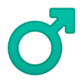 Male Sign on Google Android 8.1