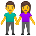 Man and Woman Holding Hands on Google Android 8.1
