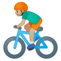 Man Biking: Medium-Light Skin Tone on Google Android 8.1