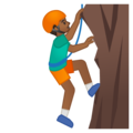 Man Climbing: Medium-Dark Skin Tone on Google Android 8.1