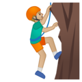 Man Climbing: Medium-Light Skin Tone on Google Android 8.1