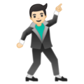 Man Dancing: Light Skin Tone on Google Android 8.1