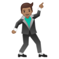 Man Dancing: Medium Skin Tone on Google Android 8.1
