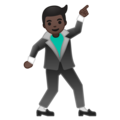 Man Dancing: Dark Skin Tone on Google Android 8.1