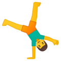 Man Cartwheeling on Google Android 8.1