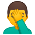Man Facepalming on Google Android 8.1
