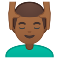 Man Getting Massage: Medium-Dark Skin Tone on Google Android 8.1