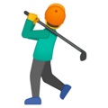 Man Golfing on Google Android 8.1