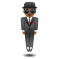 Man in Suit Levitating: Medium-Dark Skin Tone on Google Android 8.1