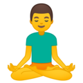 Man in Lotus Position on Google Android 8.1