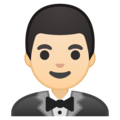 Man in Tuxedo: Light Skin Tone on Google Android 8.1