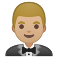 Man in Tuxedo: Medium-Light Skin Tone on Google Android 8.1