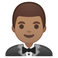 Man in Tuxedo: Medium Skin Tone on Google Android 8.1