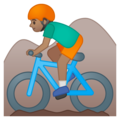 Man Mountain Biking: Medium Skin Tone on Google Android 8.1