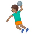 Man Playing Handball: Medium Skin Tone on Google Android 8.1