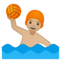 Man Playing Water Polo: Medium-Light Skin Tone on Google Android 8.1