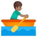 Man Rowing Boat: Medium Skin Tone on Google Android 8.1