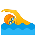 Man Swimming on Google Android 8.1