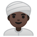 Person Wearing Turban: Dark Skin Tone on Google Android 8.1