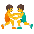 Men Wrestling on Google Android 8.1