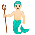 Merman: Light Skin Tone on Google Android 8.1