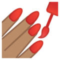 Nail Polish: Medium Skin Tone on Google Android 8.1