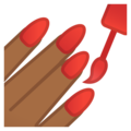 Nail Polish: Medium-Dark Skin Tone on Google Android 8.1