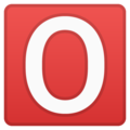 O Button (blood Type) on Google Android 8.1