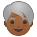 Older Adult: Medium-Dark Skin Tone on Google Android 8.1