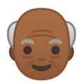 Old Man: Medium-Dark Skin Tone on Google Android 8.1