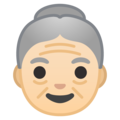 Old Woman: Light Skin Tone on Google Android 8.1