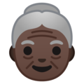 Old Woman: Dark Skin Tone on Google Android 8.1