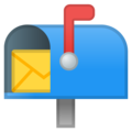 Open Mailbox With Raised Flag on Google Android 8.1