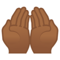 Palms Up Together: Medium-Dark Skin Tone on Google Android 8.1