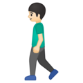 Person Walking: Light Skin Tone on Google Android 8.1