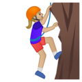 Person Climbing: Medium-Light Skin Tone on Google Android 8.1