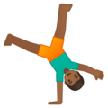 Person Cartwheeling: Medium-Dark Skin Tone on Google Android 8.1