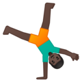 Person Cartwheeling: Dark Skin Tone on Google Android 8.1