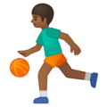 Person Bouncing Ball: Medium-Dark Skin Tone on Google Android 8.1