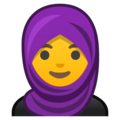 Woman With Headscarf on Google Android 8.1