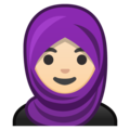 Person With Headscarf: Light Skin Tone on Google Android 8.1
