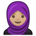 Person With Headscarf: Medium-Light Skin Tone on Google Android 8.1
