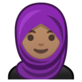 Person With Headscarf: Medium Skin Tone on Google Android 8.1