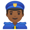 Police Officer: Medium-Dark Skin Tone on Google Android 8.1
