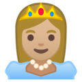 Princess: Medium-Light Skin Tone on Google Android 8.1
