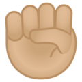 Raised Fist: Medium-Light Skin Tone on Google Android 8.1