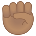 Raised Fist: Medium Skin Tone on Google Android 8.1