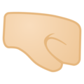 Right-Facing Fist: Light Skin Tone on Google Android 8.1