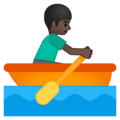 Person Rowing Boat: Dark Skin Tone on Google Android 8.1