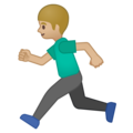 Person Running: Medium-Light Skin Tone on Google Android 8.1